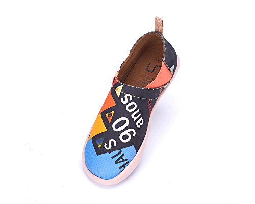 Painted UIN Slip Shoe On Shoe Mens Painted Canvas Slip On Mens UIN Canvas w6qfBB
