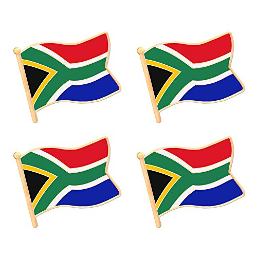 ALEY South Africa South African Flag Lapel Pin Decorations (4 Pack)
