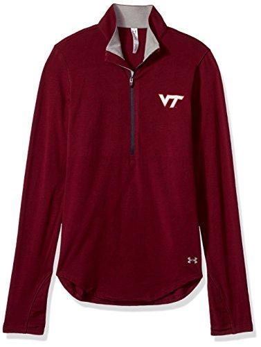 Under Armour NCAA Virginia Tech Hokies Women's Cotton Lightweight 1/4 Zip Tee, X-Large, ()
