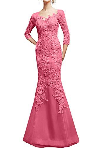 La Figurbetont Spitze Braut Marie Wassermelon 2019 Schnitt Partykleider Rosa Damen Schmaler Abendkleider Ballkleider r6rqwvF