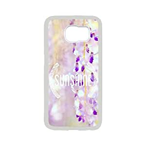 Samsung Galaxy S6 Phone Case With Flowers Cards Pattern