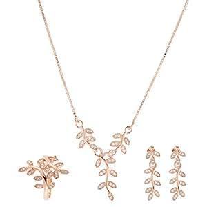 Aurora Women Silver Jewelry Set