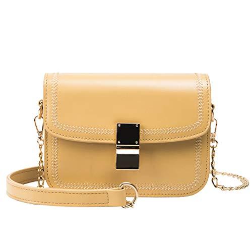 Womens Fashion Retro Flap Bag Patent Leather Crossbody Phone Bag Shoulder Bag Hand Bag Yellow