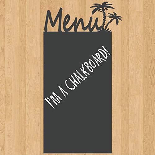 Diuangfoong Menu Board Palm Tree Chalkboard Sign Vinyl Wall Sticker Decal 11h X 26w