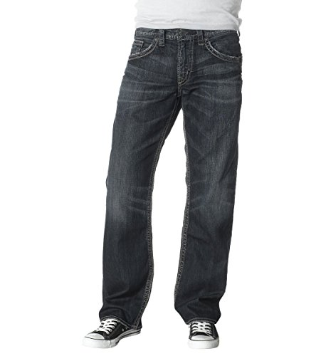 Silver Jeans Co.. Men's Gordie Loose Fit Straight Leg Jeans,