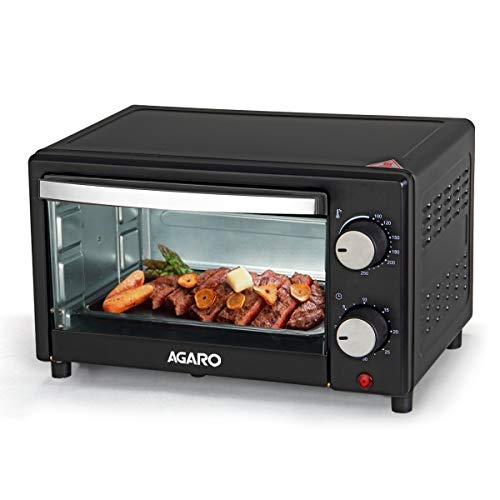 AGARO – 33266 Marvel 9-Litre Oven Toaster Grill with Temperature Adjustment (Black)