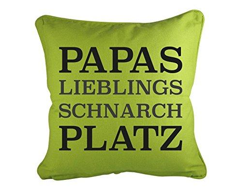 Klebefieber Dekokissen Papas Lieblings Schnarchplatz B x H  40cm 40cm 40cm x 40cm Farbe  Limone B01E4A6ZSW Zierkissen 3b65ab