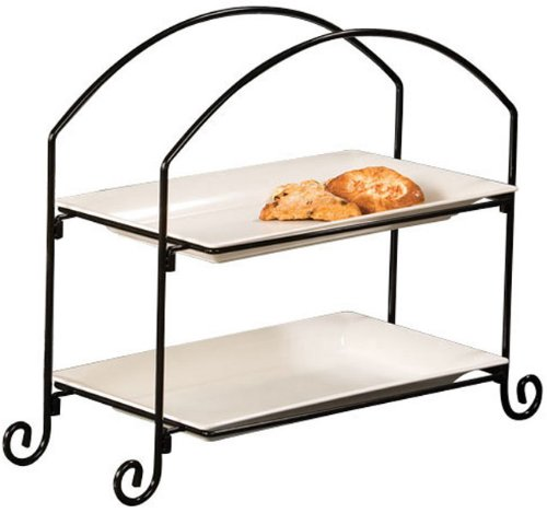 - American Metalcraft (IS12) Two Tier Ironwork Stand For Rectangular Plates And Baskets