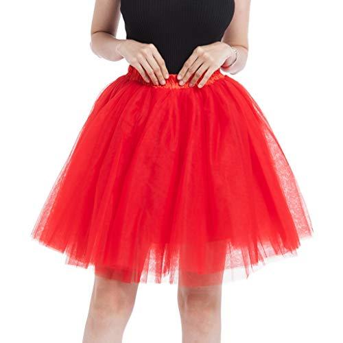Gran Rojo Tul Grande Columpio Party Malla Princesa 004 Para Talla Ropa La Falda ♡♡fanny Funny♡ Sra Mujer De Tutu Vestido Larga Plisada pRqZSS