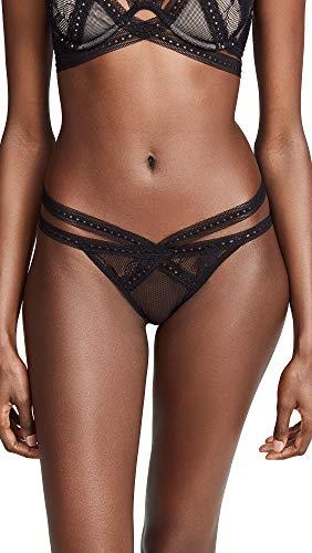 Thistle & Spire Women's Sylvan Strappy Bikini Panty, Black, Medium