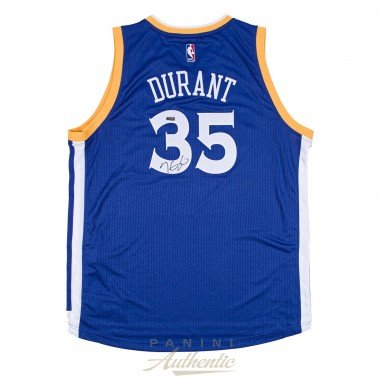 Limited Alternate Jersey - KEVIN DURANT Autographed Alternate Blue Golden State Warriors Swingman Jersey PANINI