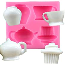 Outflower Teacup Silicone Cake Molds Fondant Cake Silicone Molds DIY Cake Mold Baking Tools Random Color