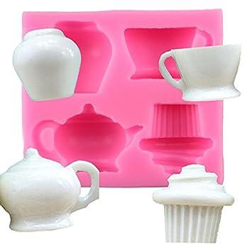 Doitsa 1 Pcs Fondant Chocolate Half 3d Teapot Vase Coffee Cake