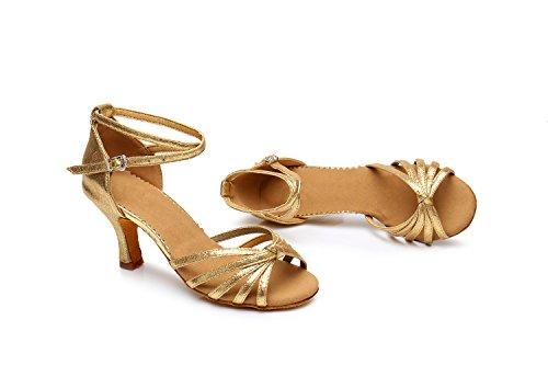 Latin shoes Latin Golden high soft shoes heeled 5cm dance shoes dance ShangYi bottom women's knotted BTzwqwC