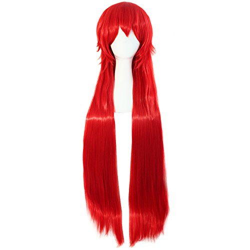[MapofBeauty Red Long 80cm Straight Costume Party Cosplay Wig] (Long Red Wigs)