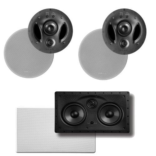Polk Audio 900-LS High Performance In-Ceiling Speakers (Pair) & A Polk Audio 255C-LS Center Channel Speaker ()