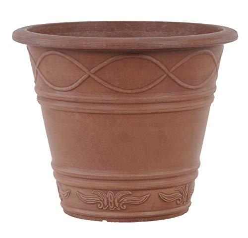 Weave Terra Cotta - Arcadia PSW ME36TC Western Weave Planter, 14 by 11.5-Inch, Terra Cotta