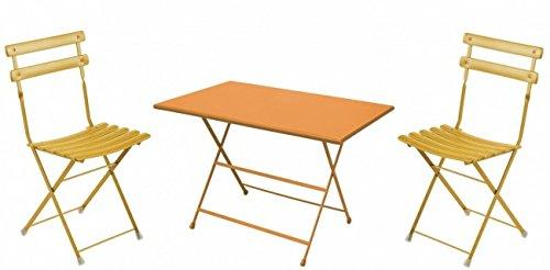 balkonm bel set 3 teilig emu rechteckig orange gro kaufen. Black Bedroom Furniture Sets. Home Design Ideas