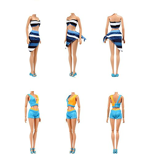Ropa de Barbie y Zapatos, Lance Home 5Sets Traje de Baño Bikini Ropa ...