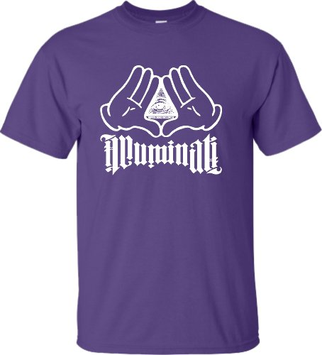Large Purple Adult Illuminati Hands T-Shirt