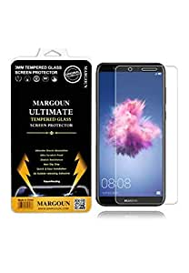Margoun 5D for Huawei P Smart (5.65 inch) Tempered Glass Screen Protector - Scratch Resistance, Non Slip Grip, Quick and Easy Installation Protective Screen Protector - Clear