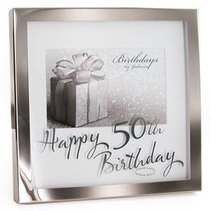 Happy 50th Birthday 6 X 4 Photo Frame Amazoncouk Kitchen Home