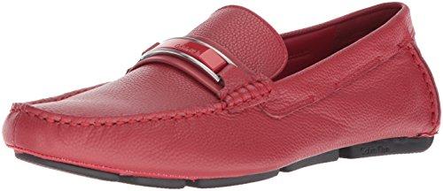 Calvin Klein Men's Madsen Loafer Flat, Brick Red, 8 M US by Calvin Klein