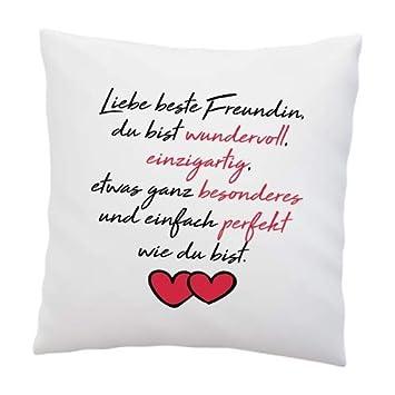 Liebes Kissenbezug Mit Spruch Liebe Beste Freundin Kissen
