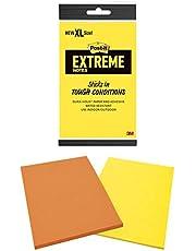 نوتات بوست إكستريم، أخضر، برتقالي، نعناع، أصفر، رائع للأسطح الصلبة اللاصقة، يتميز بورق تثبيت دائم ولاصق ، 7.62 سم × 7.62 سم