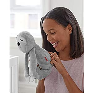 Skip Hop 304326 Cry-Activated Baby Sleep Soother & Nursery Sound Machine – Plush Sloth, Cry Activated Soother Sloth