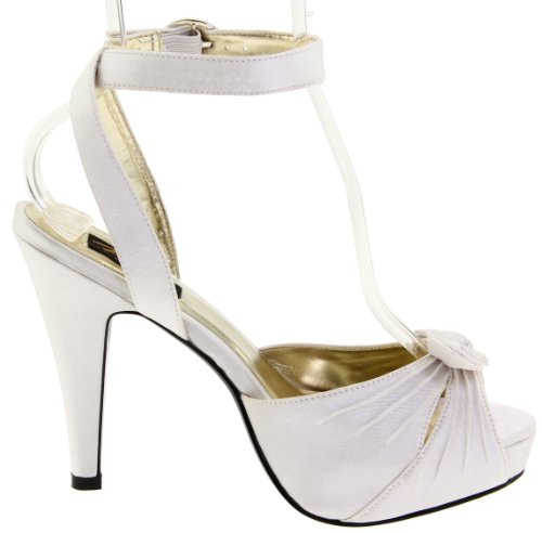Ivory Pin Satin 41 EU UK 8 Up BETTIE 04 Couture pIxFPIO