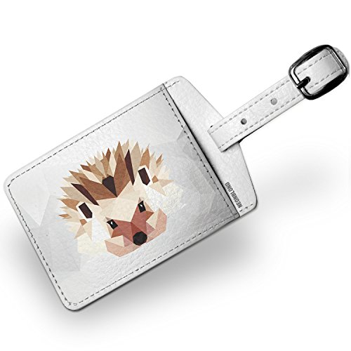 Luggage Tag Low Poly zoo Animals Hedgehog - NEONBLOND