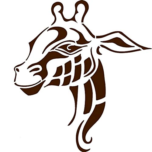 キリンフェイス マイラーステンシル ステンシル キリン 動物園の動物デザイン サイズ 10`w x 11`h FWSGiraffeFac2