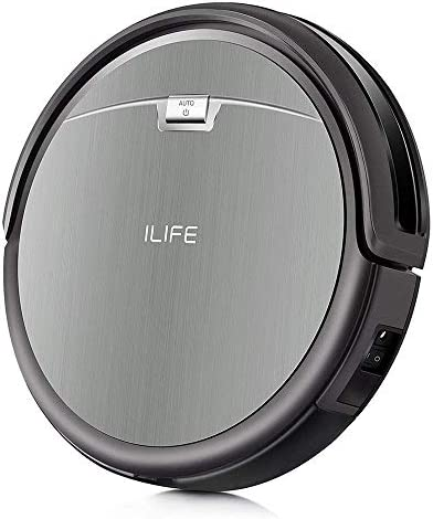 Pure Clean Robotic Vacuum Cleaner-2000Pa Suction-WiFi Mobile App and Gyroscope Mapping-Ultra Thin 3.0 Height-Rotating Under Squeegee Cleans Carpets and Hardwood PUCRC660, Grey
