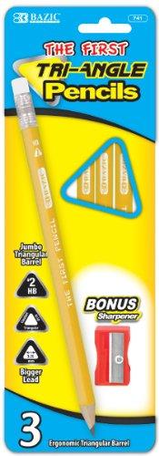 #2 Triangle Jumbo Yellow Pencil with Sharpener 144 pcs sku# 1785102MA by DDI