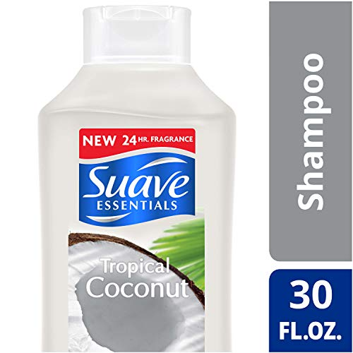 Suave Essentials Nourishing Shampoo for Dry Hair Tropical Coconut with Coconut Extract and Vitamin E for Hair 30 oz