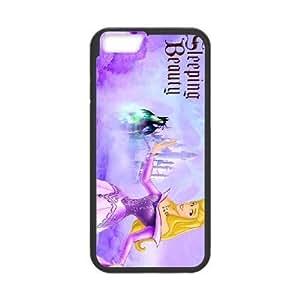 iphone6 plus 5.5 inch Black phone case Classic Style Disney Cartoon Sleeping Beauty WHD8983206