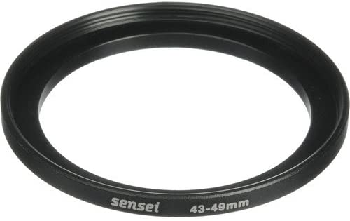 Sensei 43mm Lens to 49mm Filter Step-Up Ring 2 Pack