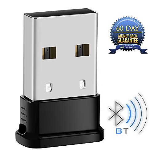 Whitelabel Bluetooth Adapter V4.0 USB Dongle für Windows 10 / 8.1 / 8 / 7 / Vista / XP mit 32-Bit und 64-Bit - Plug und Play