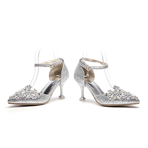 High GONGFF Bankett Schuhe Schuhe Heels Kristall Hochzeit nqxSvCUXF