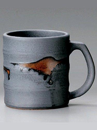 BLACK-SABI Tohki Japanese Pottery Set of 5 Beer Mugs by Watou.asia