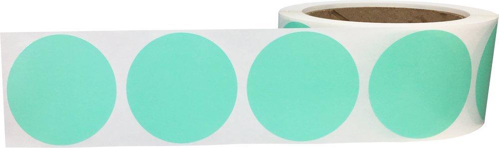 500 Etichette su Rotolo 51 mm 2 Pollici Rotondo Blu Cerchio Punto Adesivi