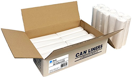 Reli. Trash Bags, 16-30 Gallon (500 Count Wholesale) - Star Seal High Density Rolls (Clear) - Can Liners, Garbage Bags with 16 Gallon (16 Gal) to 30 Gallon (30 Gal) Capacity ()