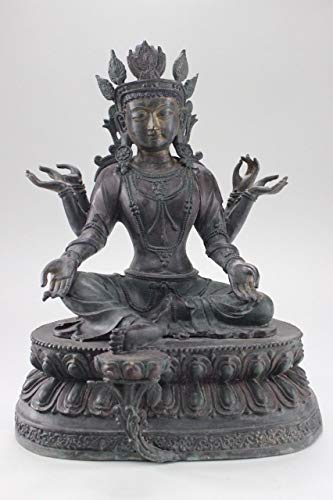 Buddha Figure Green Tara (41 cm) Bronze - Tibet Statue Asian Art - Asien Lifestyle from Asien LifeStyle