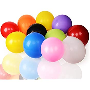 Aplstar Party Balloons Assorted Colors Latex Balloons12 Inches100Pcs