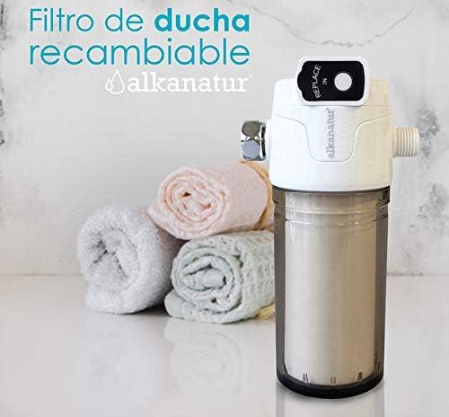 Filtro para ducha Alkanatur - Totalmente libre de sulfito cálcico ...