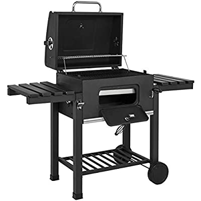 Best Choice Products Outdoor Backyard Premium Barbecue Charcoal BBQ Grill- Black