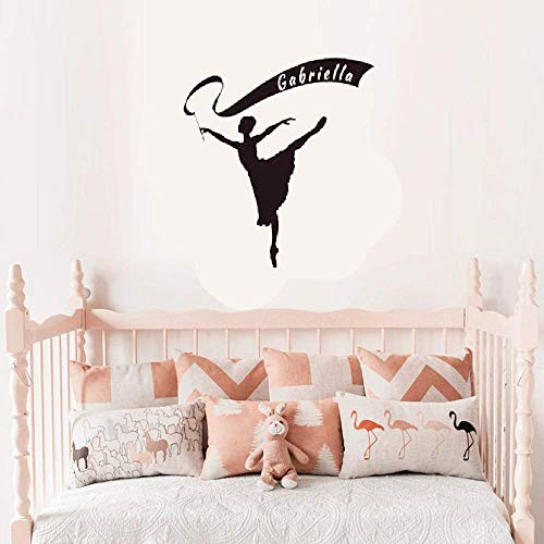(Family-decal Wall Stickers Vinyl Words Sayings Removable Lettering Personalized Ribbon Banner Dancer Ballet Dancer)