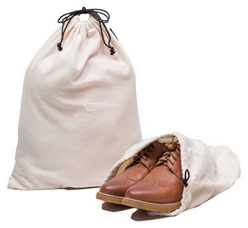 Misslo Cotton Breathable Dust-proof Drawstring Storage Pouch Bag (Pack 3 M) by MISSLO (Image #2)