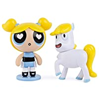 The Powerpuff Girls - 2 inch Action Dolls with Display Stands - 2-Pack - Bubbles & Donny the Unicorn